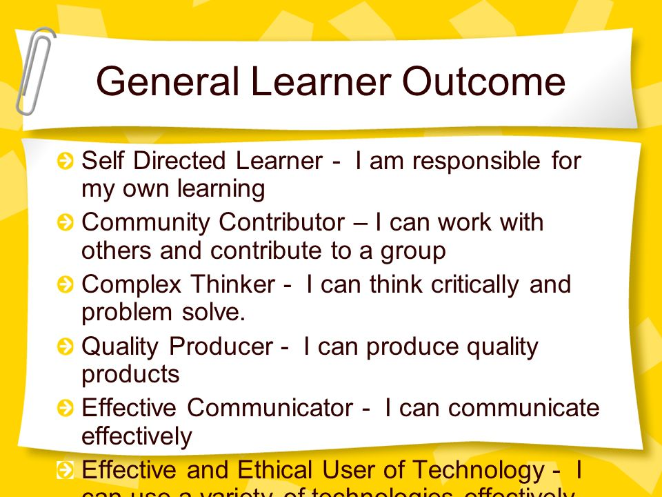 General Learner Outcome