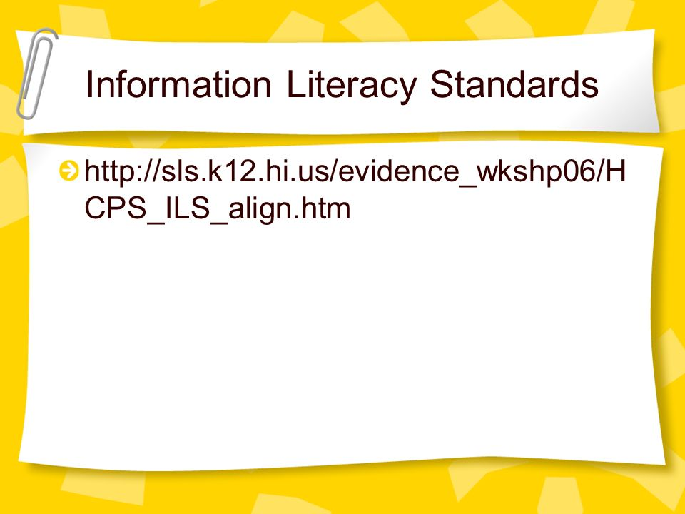 Information Literacy Standards