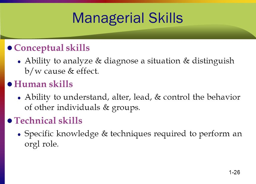 managerial skills technical interpersonal conceptual Human skills emerge in the workplace as a spirit of trust, enthusiasm, and genuine involvement in interpersonal relationships business and management educators are increasingly interested in helping people acquire technical, human, and conceptual skills, and develop specific competencies, or specialized skills, that.