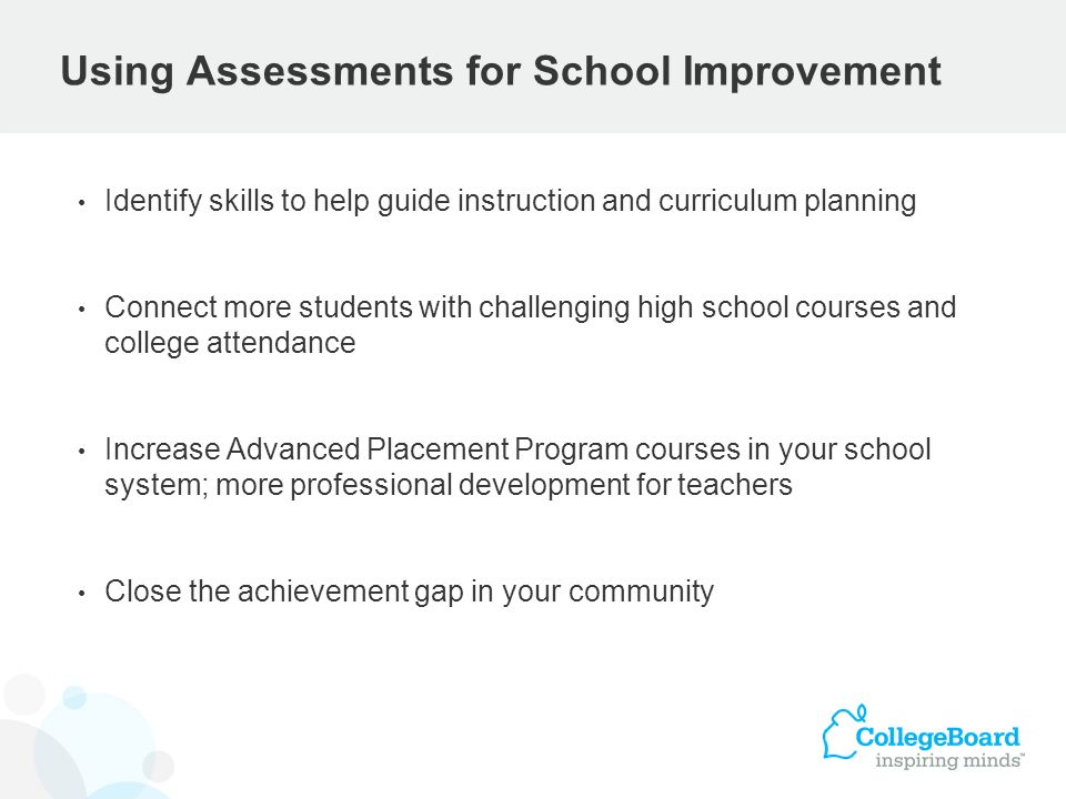 Using Assessments for School Improvement