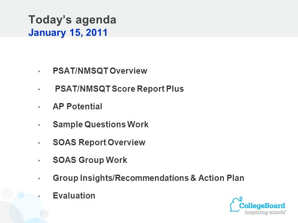 Today's agenda January 15, 2011