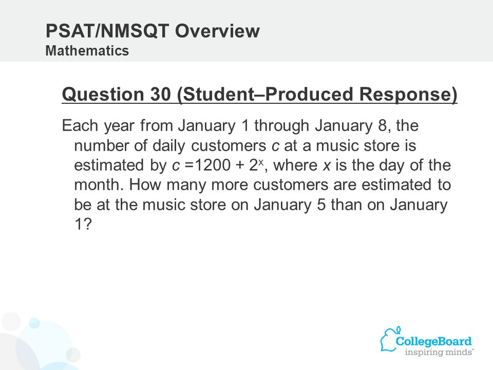 Question 30 (Student–Produced Response)