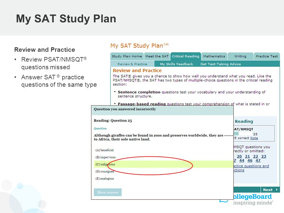 My SAT Study Plan Review and Practice