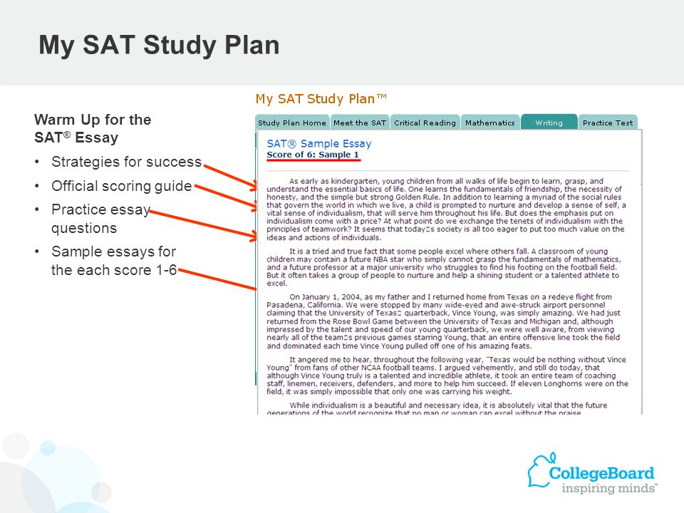 sat sample essay College prep guides: writing an a+ admissions essay it is natural to feel stressed about submitting college applications the information included in the application will play a major role in deciding the future path of your life.