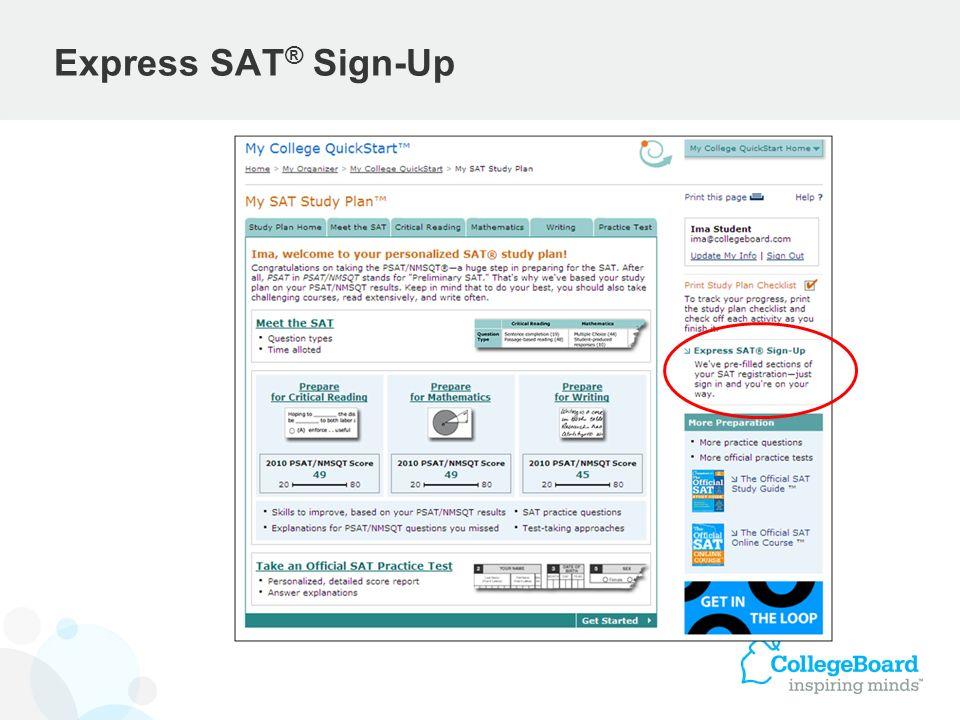 Express SAT® Sign-Up