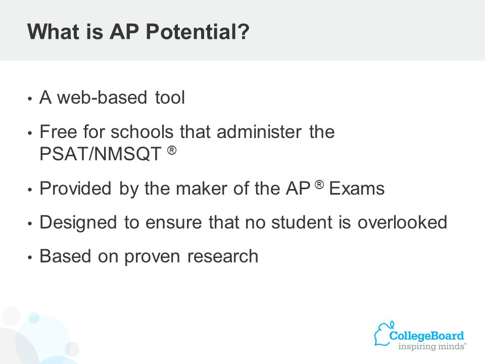 What is AP Potential A web-based tool