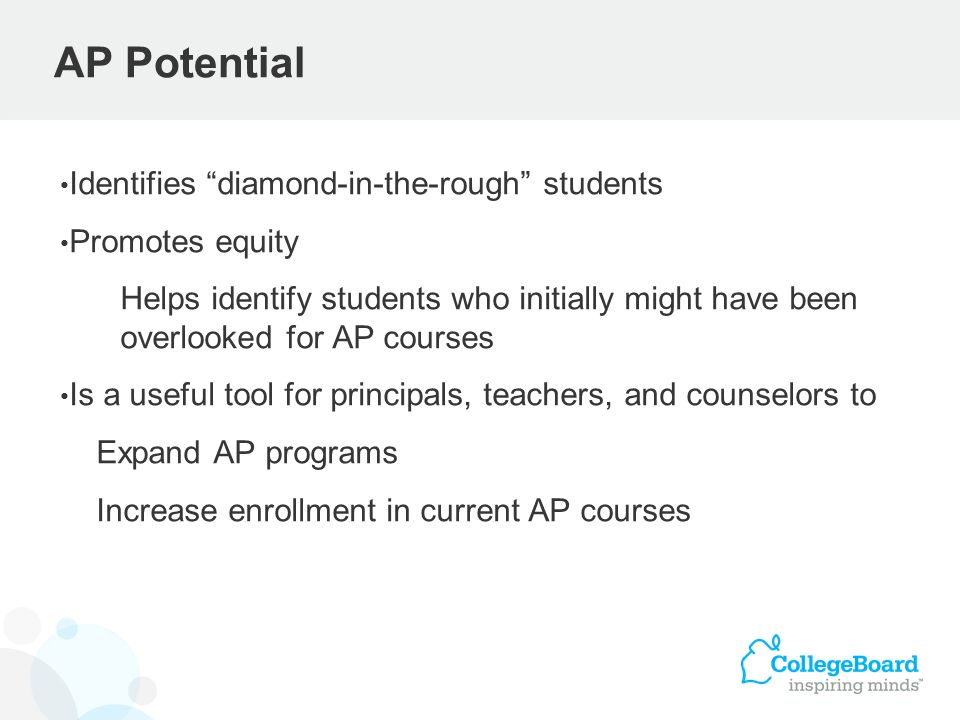 AP Potential Identifies diamond-in-the-rough students