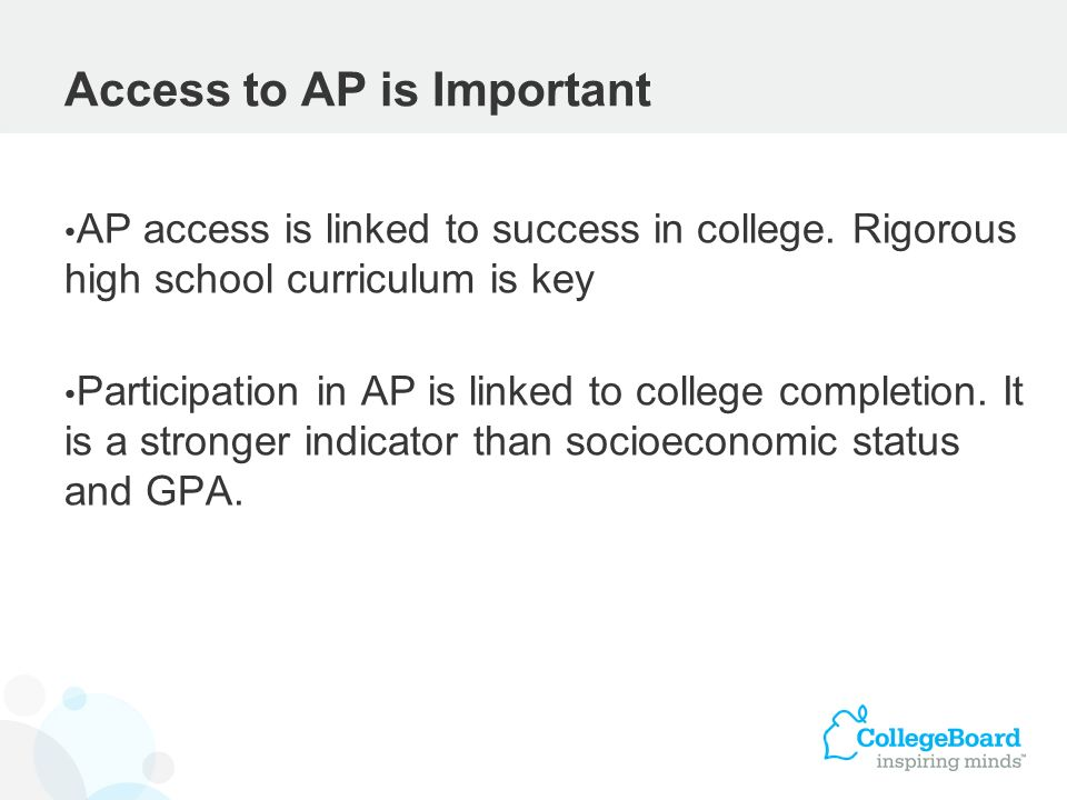 Access to AP is Important