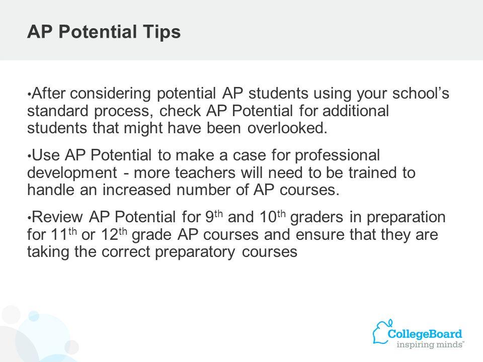 AP Potential Tips