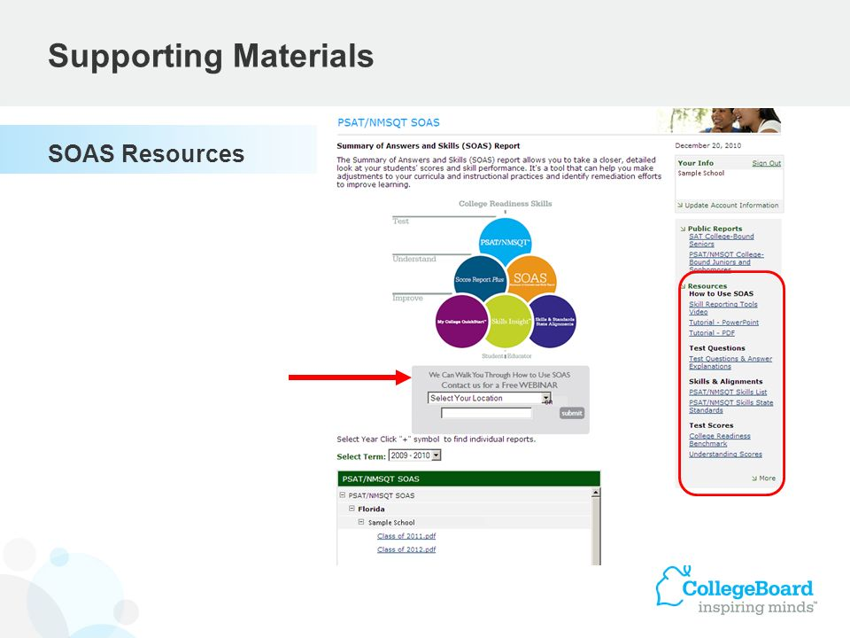 Supporting Materials SOAS Resources