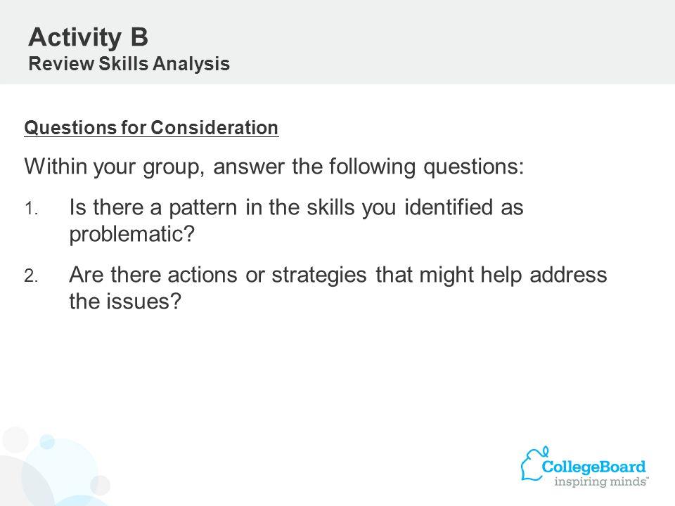 Activity B Review Skills Analysis