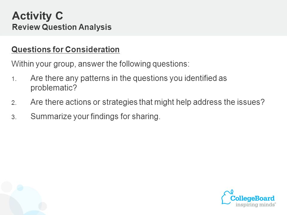 Activity C Review Question Analysis