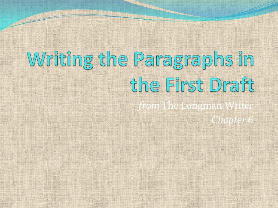 Writing first draft essay