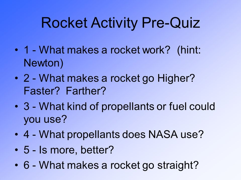 Rocket Activity Pre-Quiz