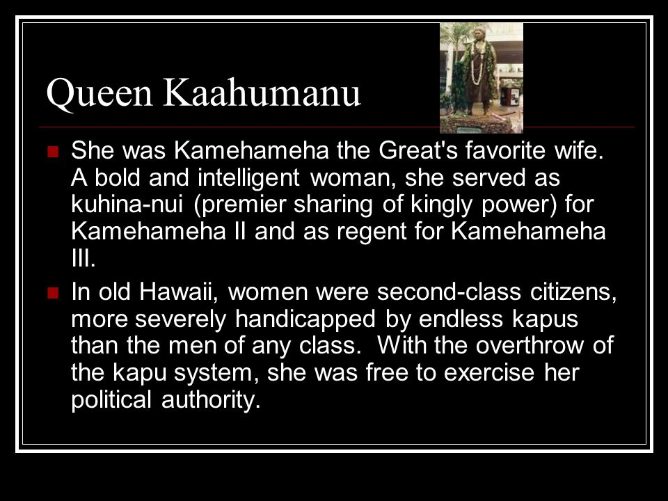 Queen Kaahumanu