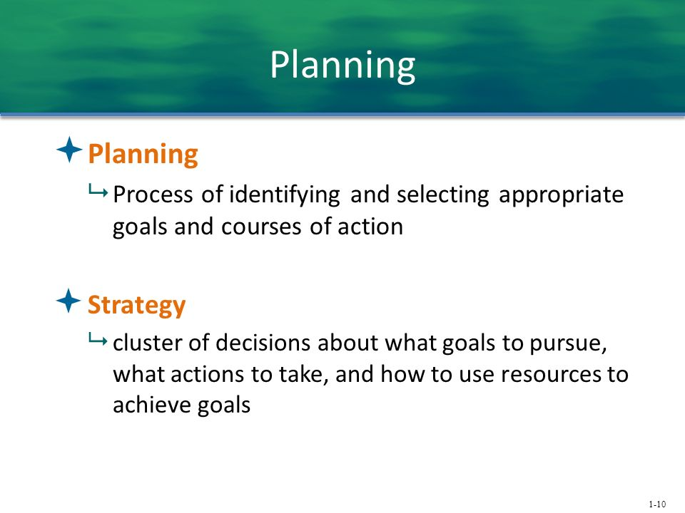 Planning Planning Strategy