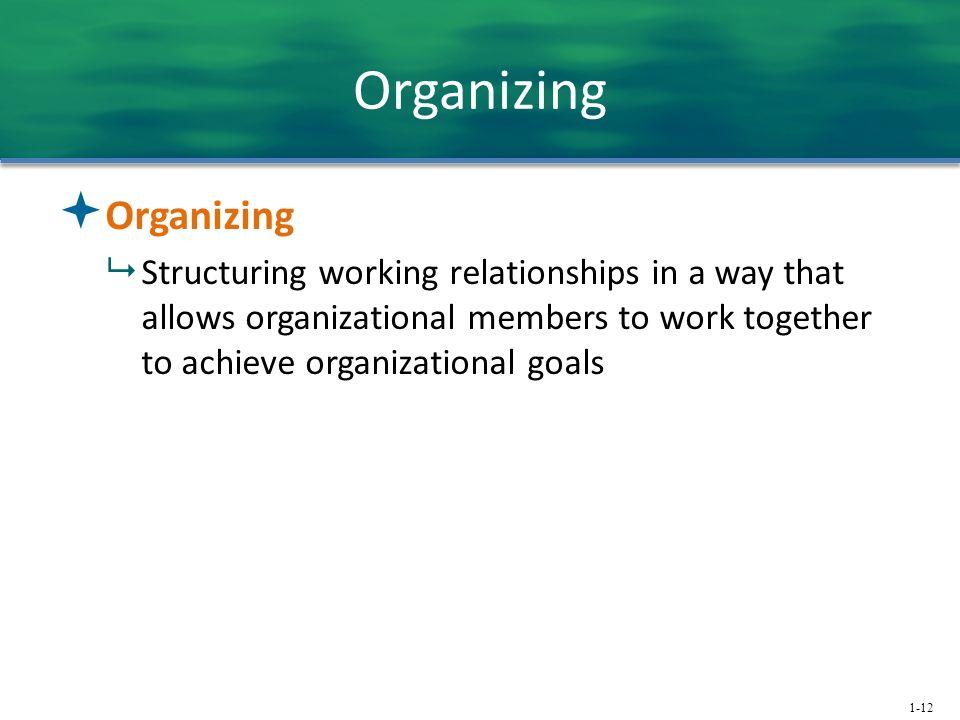 Organizing Organizing