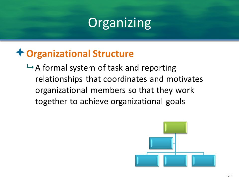 Organizing Organizational Structure