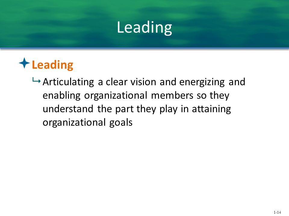 Leading Leading.