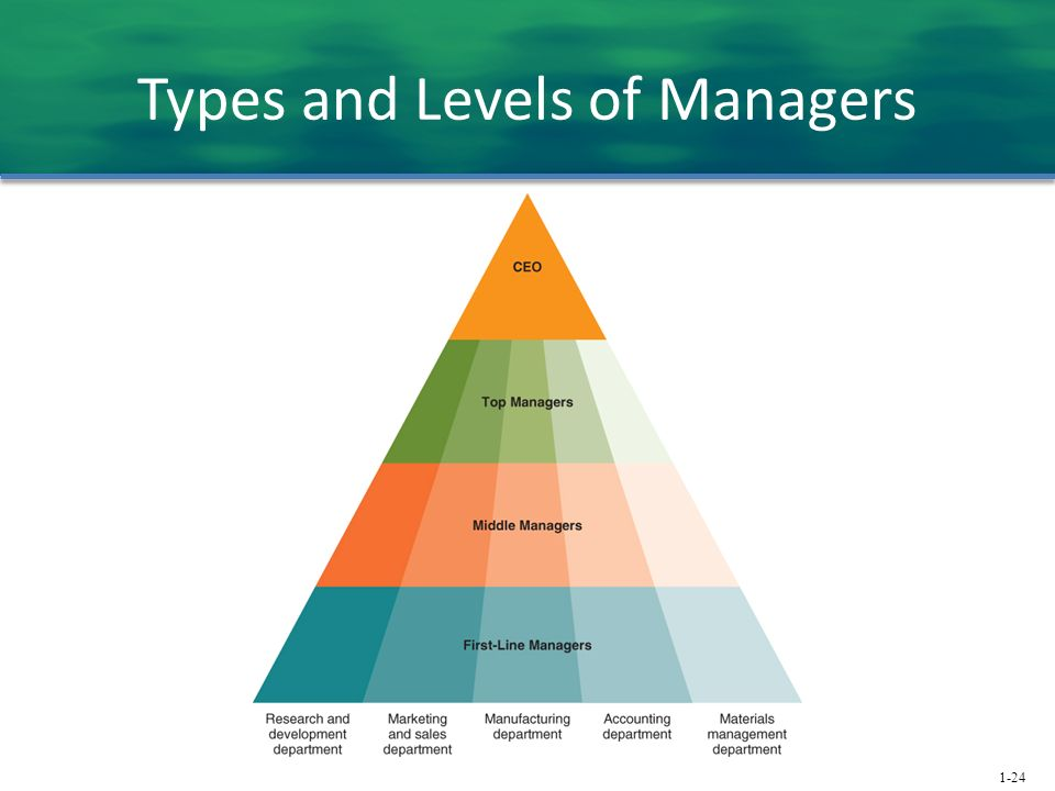 Types and Levels of Managers