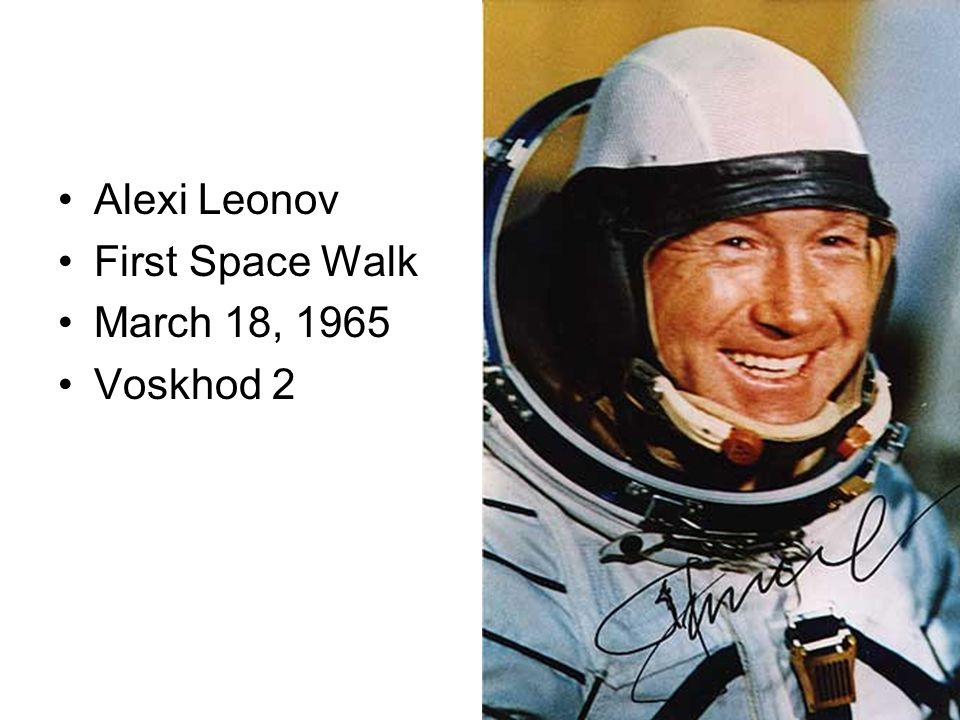 Alexi Leonov First Space Walk March 18, 1965 Voskhod 2