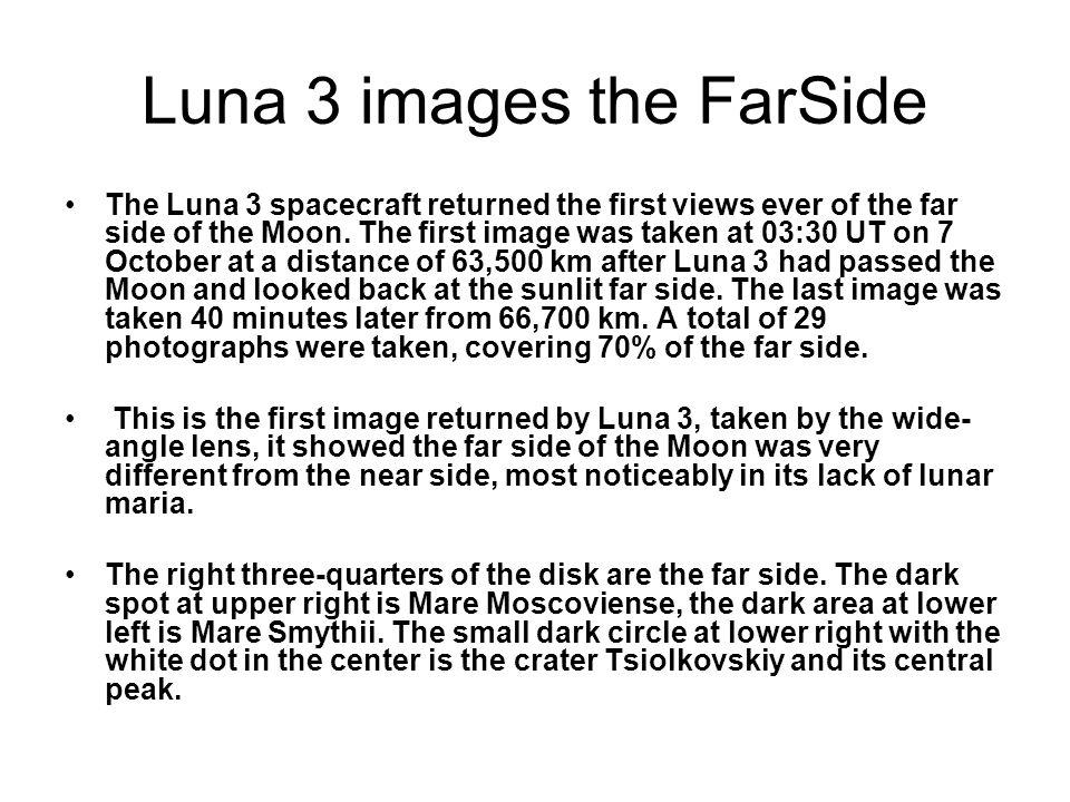 Luna 3 images the FarSide