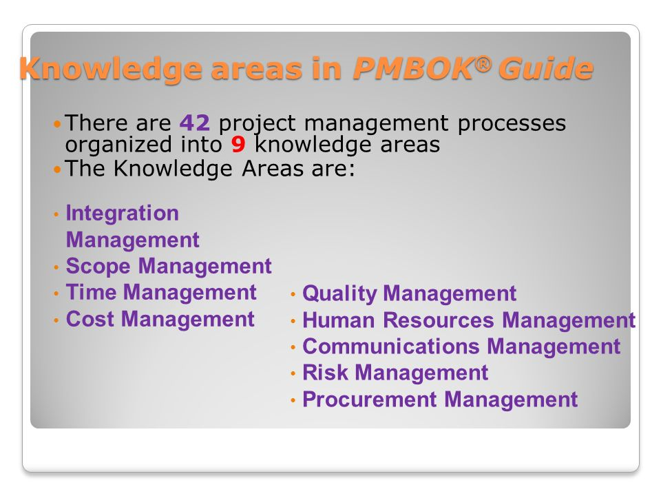 Project Management Body of Knowledge (PMBOK) Guide