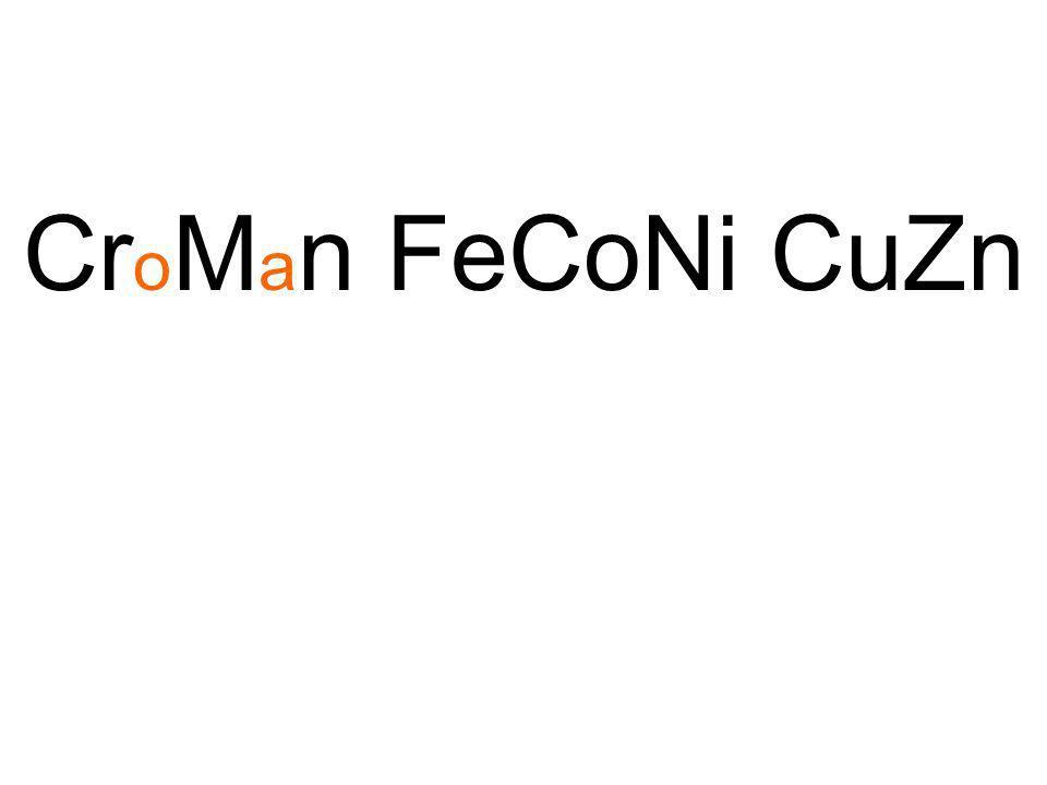 CroMan FeCoNi CuZn