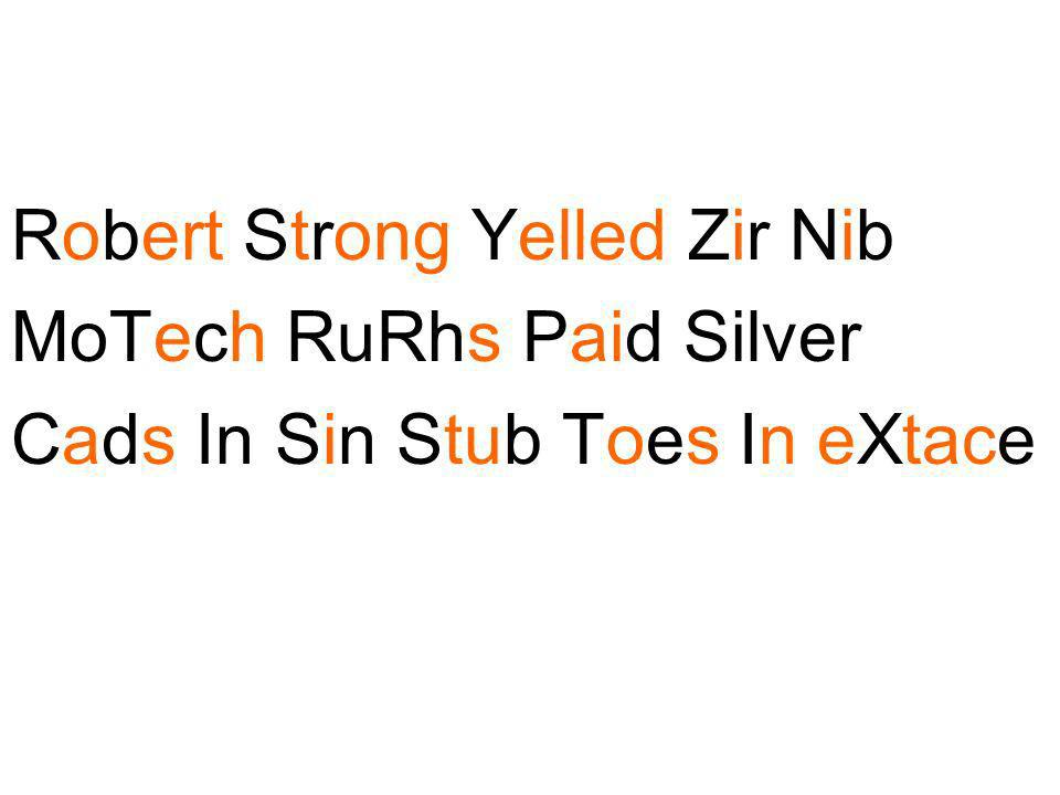 Robert Strong Yelled Zir Nib