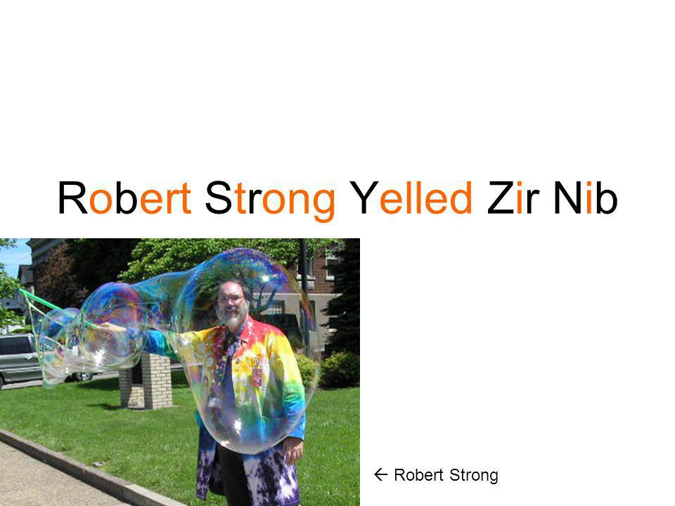 Robert Strong Yelled Zir Nib
