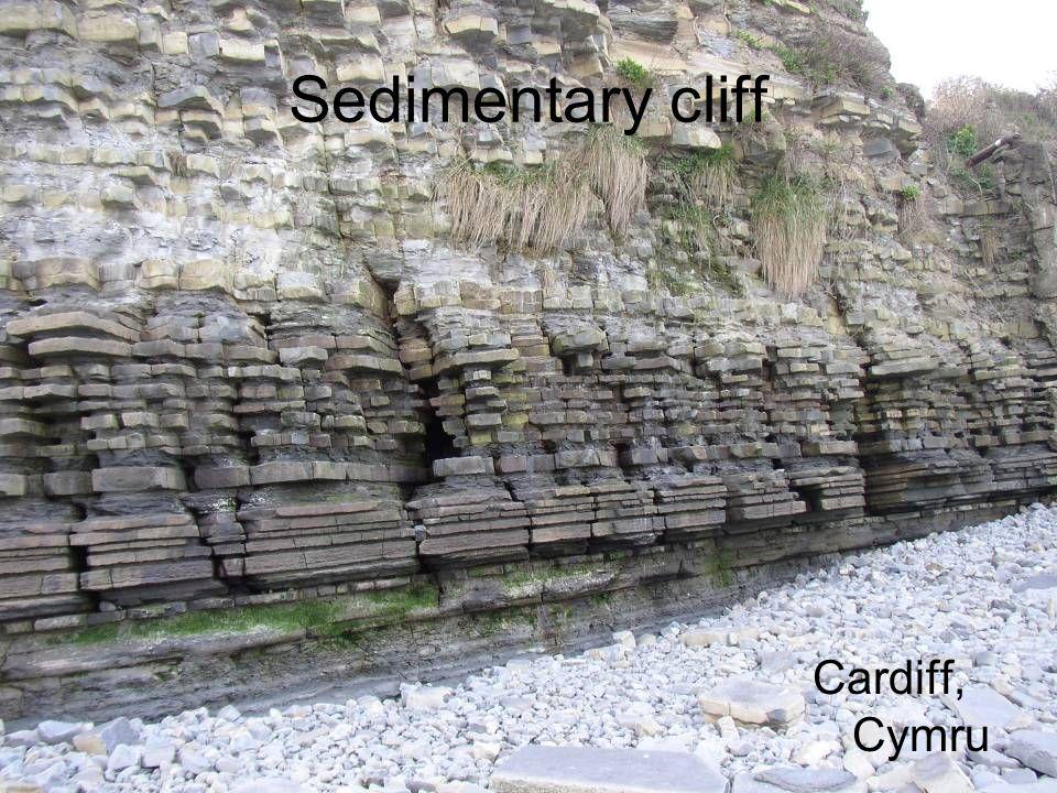 Sedimentary cliff Cardiff, Cymru