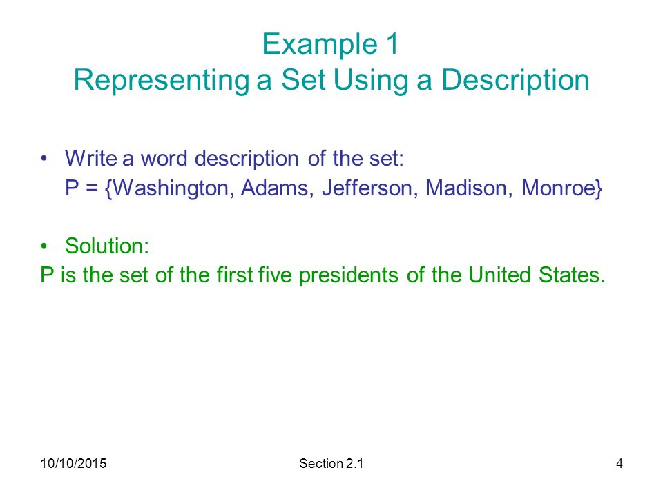 roster method to write a set