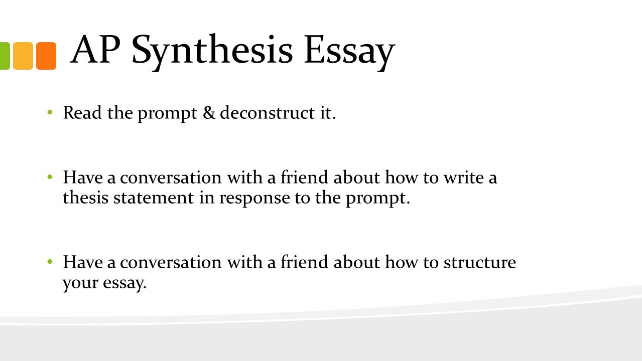 Synthesis thesis statements