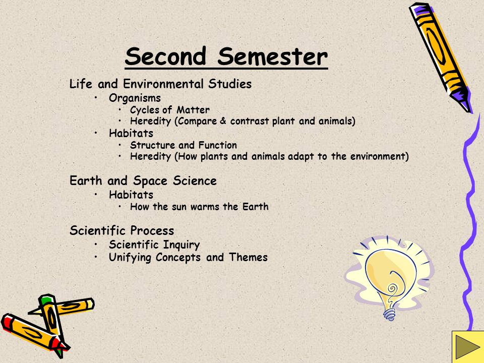 Second Semester Life and Environmental Studies Earth and Space Science