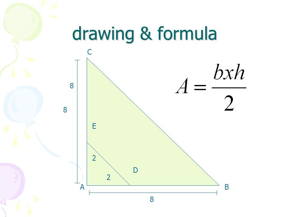 drawing & formula 8 A B C D E 2 8 D