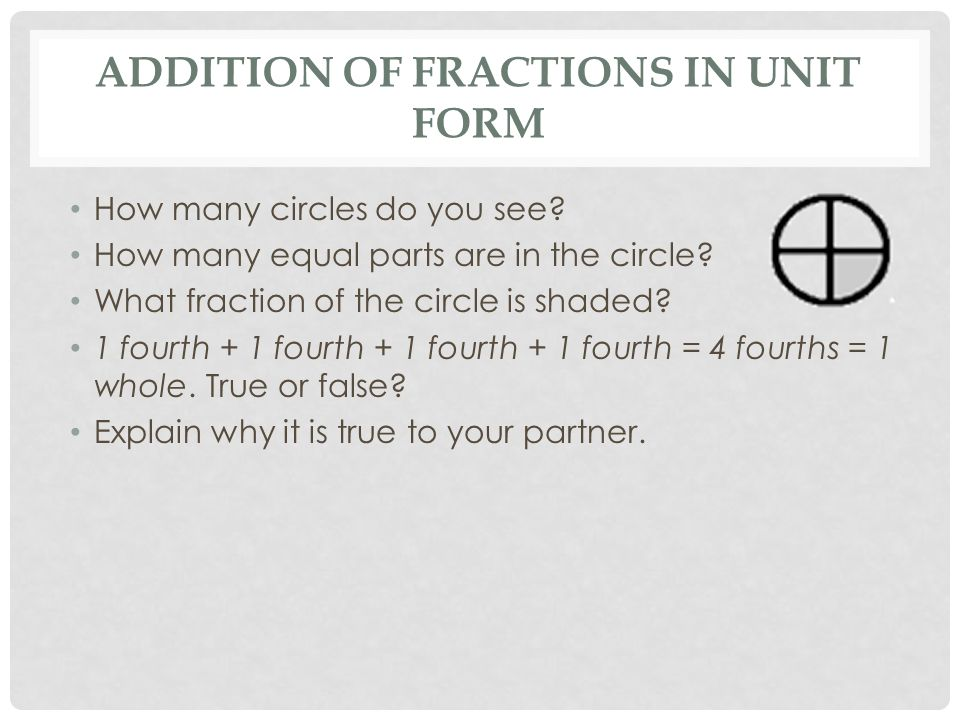 Decomposing Fractions - ppt video online download