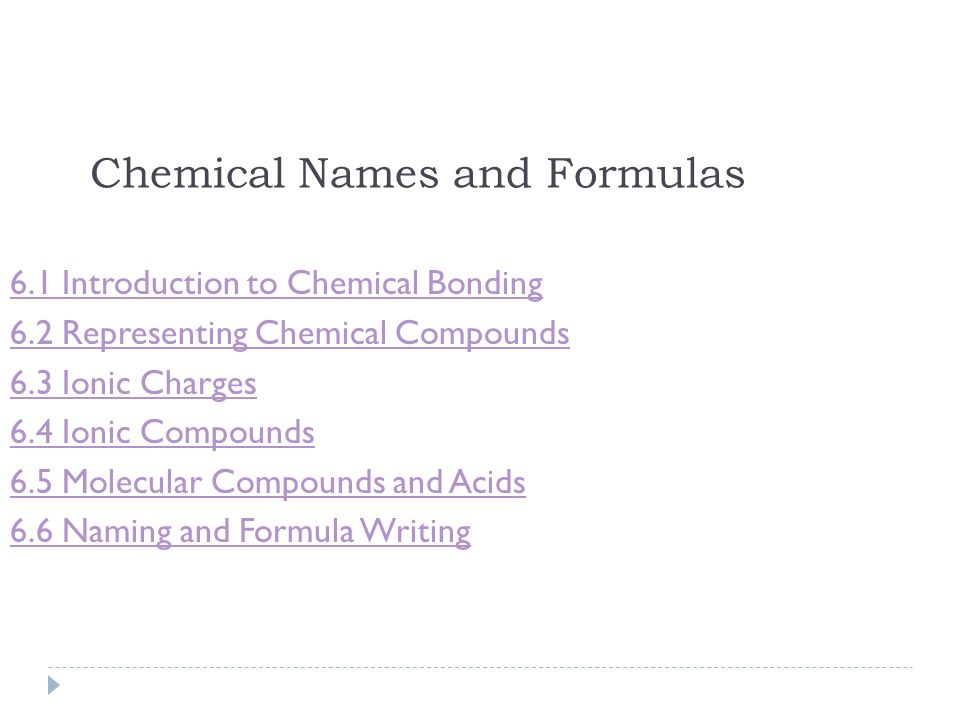 Chemical Names And Formulas Ppt Download