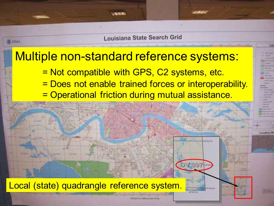 Multiple non-standard reference systems: