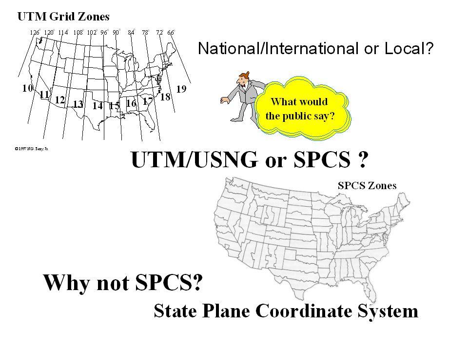 State Plane Coordinate System (SPCS)
