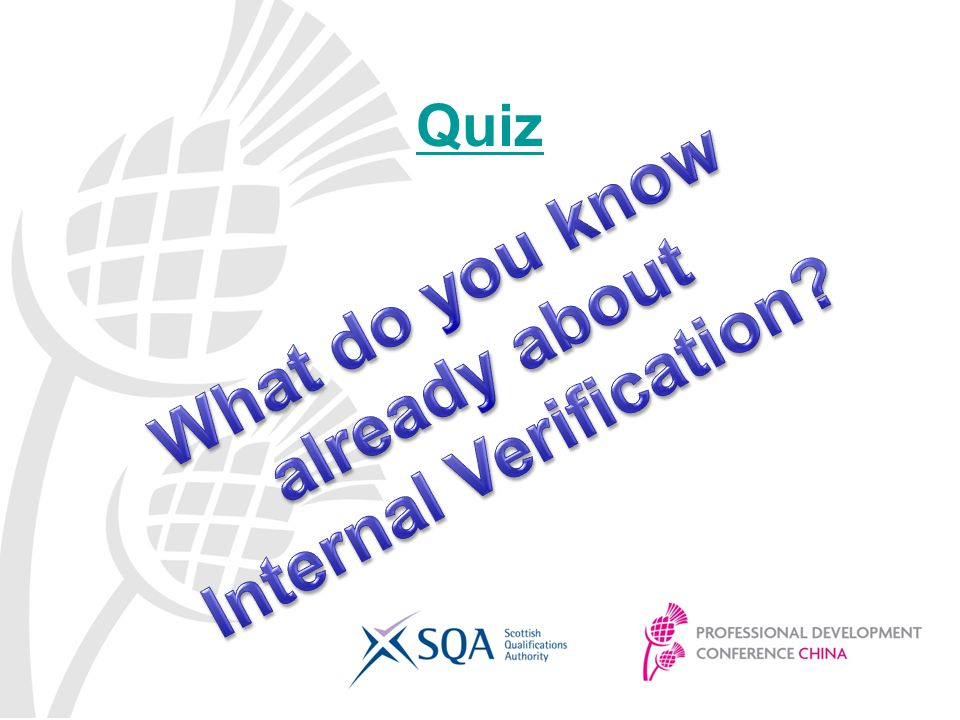 internal verification Internal verification strategy creating space for you (cic) this strategy gives  specific information about maintaining the quality of accredited courses.