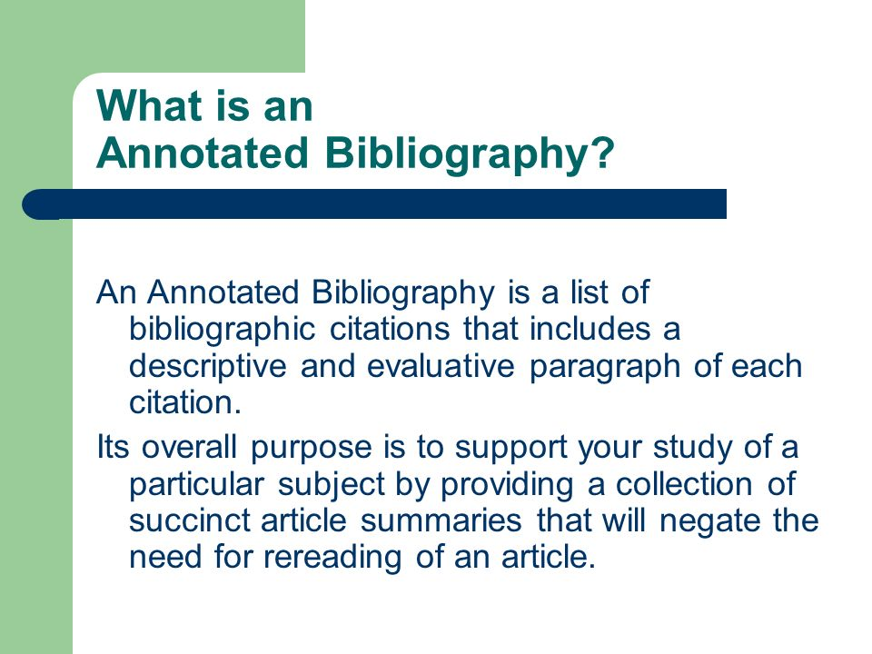 how to annotated bibliography mla