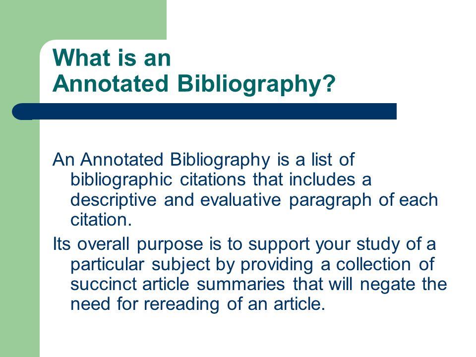 Online bibliography