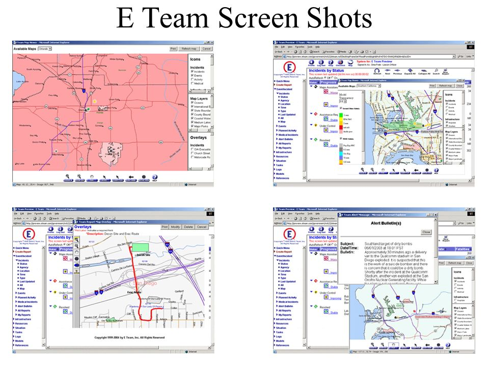 E Team Screen Shots