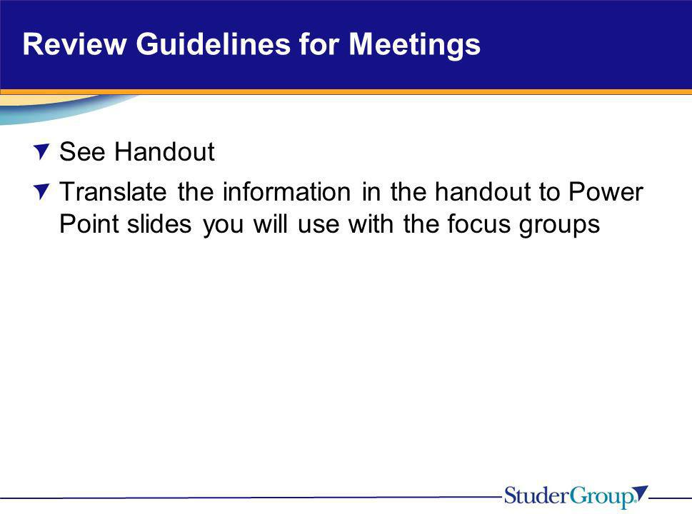 Review Guidelines for Meetings