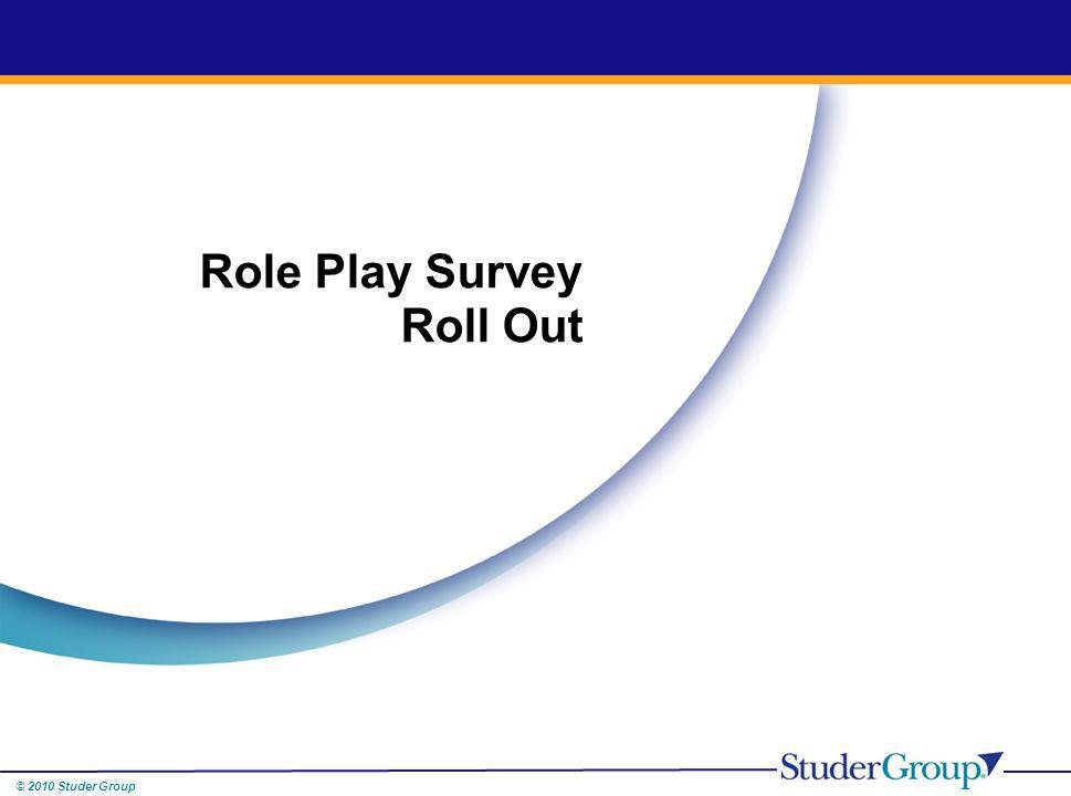 Role Play Survey Roll Out
