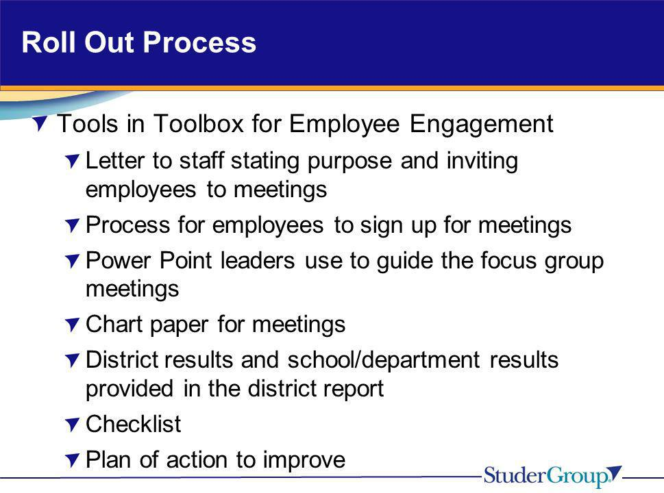 Roll Out Process Tools in Toolbox for Employee Engagement