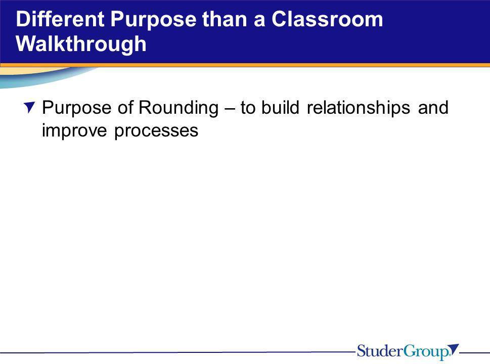 Different Purpose than a Classroom Walkthrough