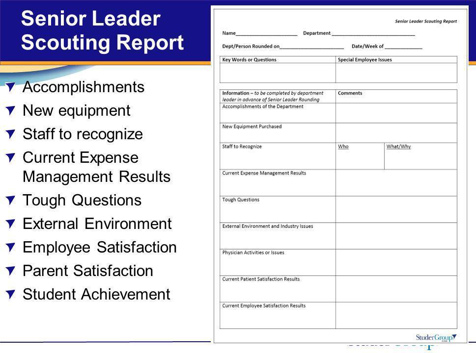 Senior Leader Scouting Report