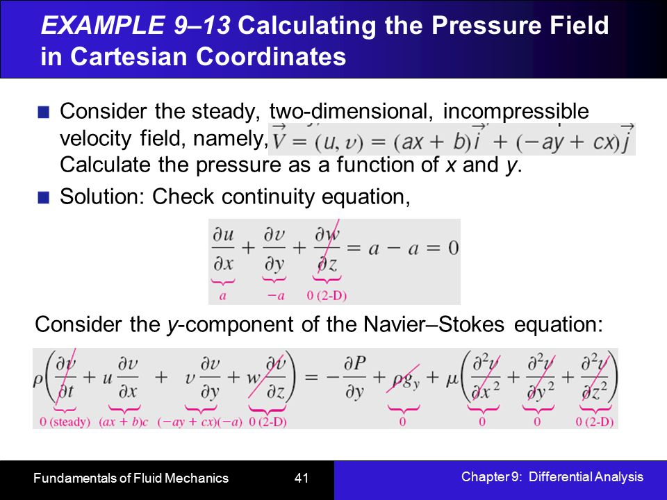 solution of 2 d incompressible navier stokes I agree with anders that, for incompressible flow on domains with simple  geometry, you'd be  the motivation is that solving the full incompressible navier -stokes  [1] a j chorin, numerical solution of the navier-stokes equations,  [ 2] a almgren, jb bell, and w szymczak, a numerical method for the.