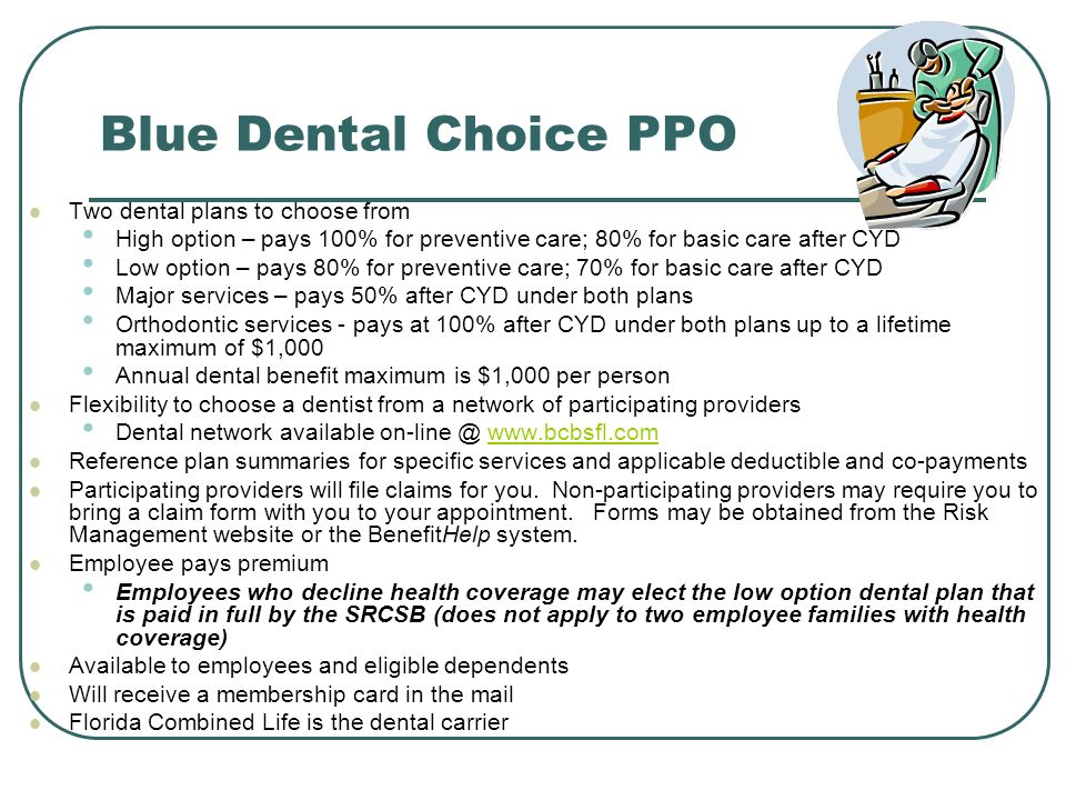 Blue Dental Choice PPO Two dental plans to choose from